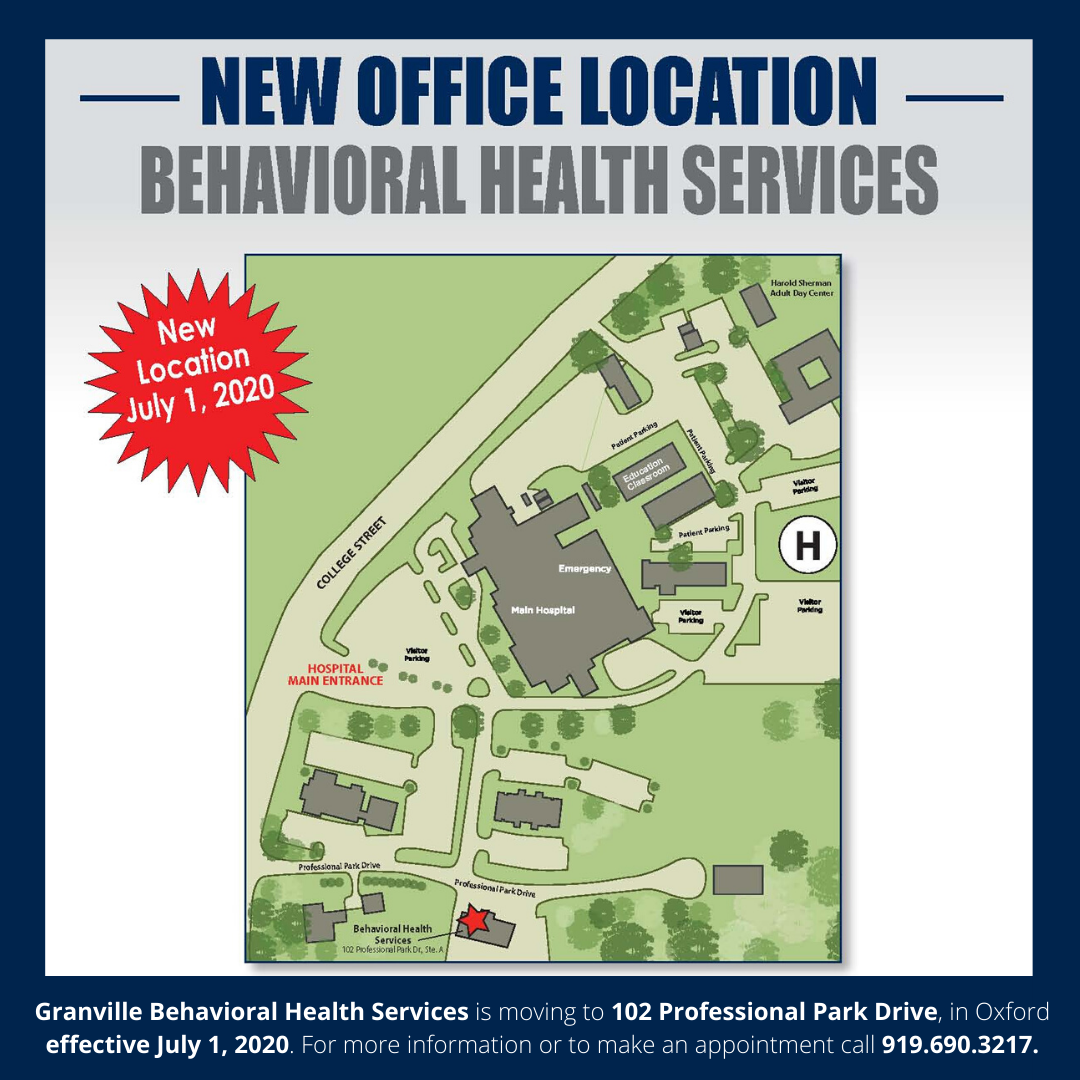 Granville Behavioral Health Services  Relocates Offices